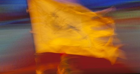 Abstract, blurry flag