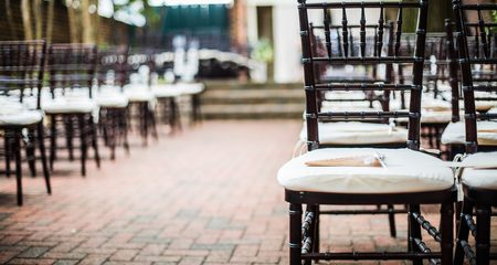 Wedding chairs with programs